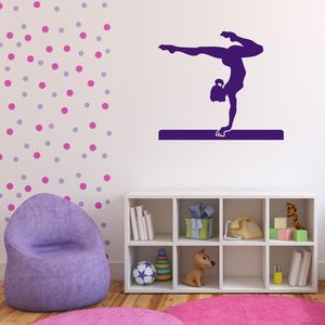 Gymnast Vinyl Wall Sticker - children's decorative accessories