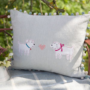 Embroidered Animal Cushions