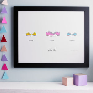 Personalised Big Shoes To Fill Print - gifts for mothers