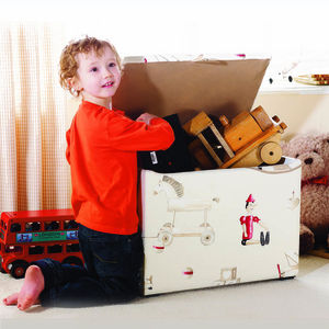 Child's Fabric Covered Toy Box - children's furniture