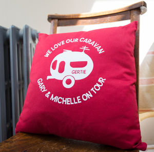 Personalised Campervan Or Caravan Cushion