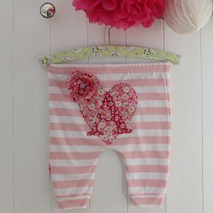 Personalised Heart Baby Harem Leggings