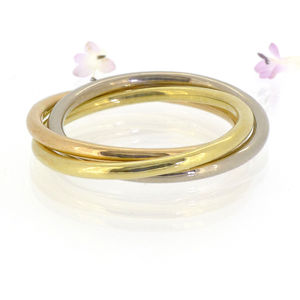 Trinity Ring In 18ct Gold - fine jewellery