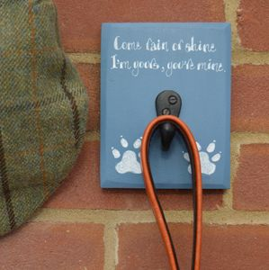Dog Lead Hook - personalised