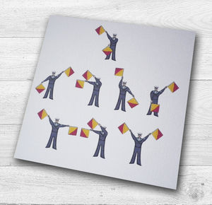Personalised Semaphore Flags I Love You Card