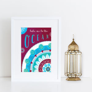 'Take Me To The Ocean' Print - frequent travellers