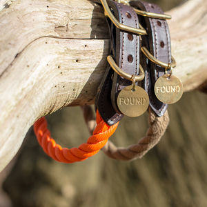 Handmade Rope And Leather Dog Collar