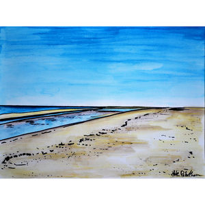 Thornham Beach - contemporary art
