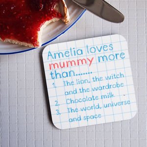 Personalised I Love You More Than Coaster - gifts for mothers