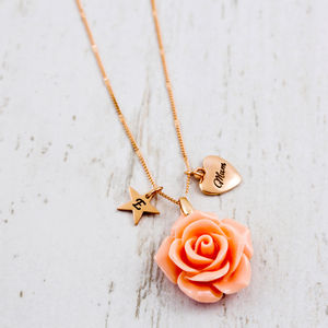 Cabochon Rose Necklace - view all sale items