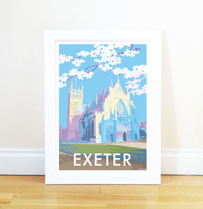 Exeter Vintage Style Seaside Poster