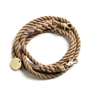 Handmade Adjustable Rope And Brass Lead - dogs