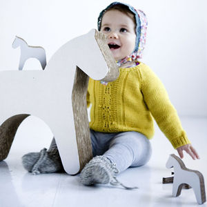 Trojan Horse Cardboard Play Stool - children's furniture