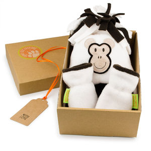 Monkey Hat And Mittens Gift Set For Baby And Child