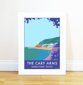 Cary Arms Vintage Style Seaside Poster
