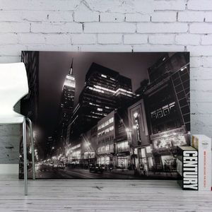 New York Street At Night Canvas - art & pictures