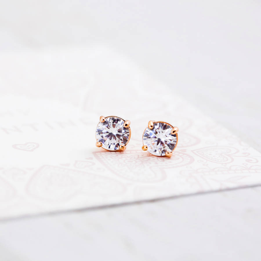 image white gold soli collection solitaire diamond stud claw earrings earring