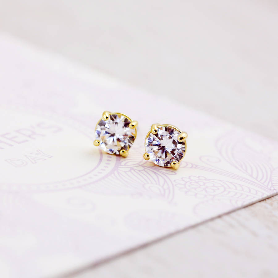 the jewelry unisex white round stud solitaire products cttw firm diamond gold earrings