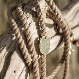 Handmade Adjustable Rope And Brass Lead - walking