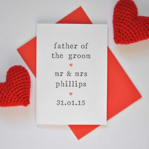 Personalised Father Of The Groom Card