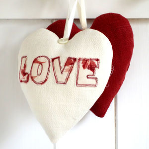 Personalised Embroidered Love Heart - table decorations