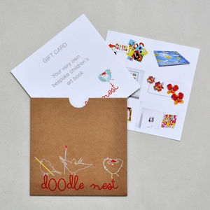 Bespoke Children's Artwork Book Voucher - personalised