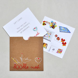 Bespoke Children's Artwork Cards Voucher
