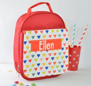 Girls Personalised Lunch Bag Various Designs - lunch boxes & bags