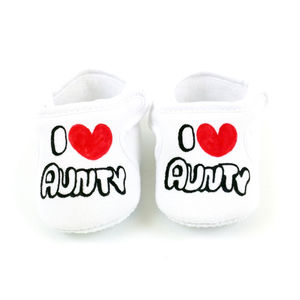 Personalised 'I Love My Aunty' Velcro Shoes