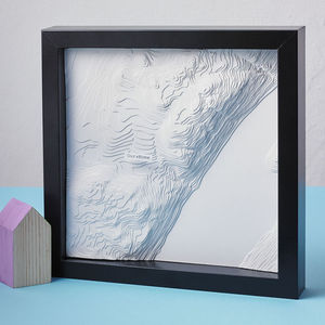 Personalised Paper Contour Map Artwork