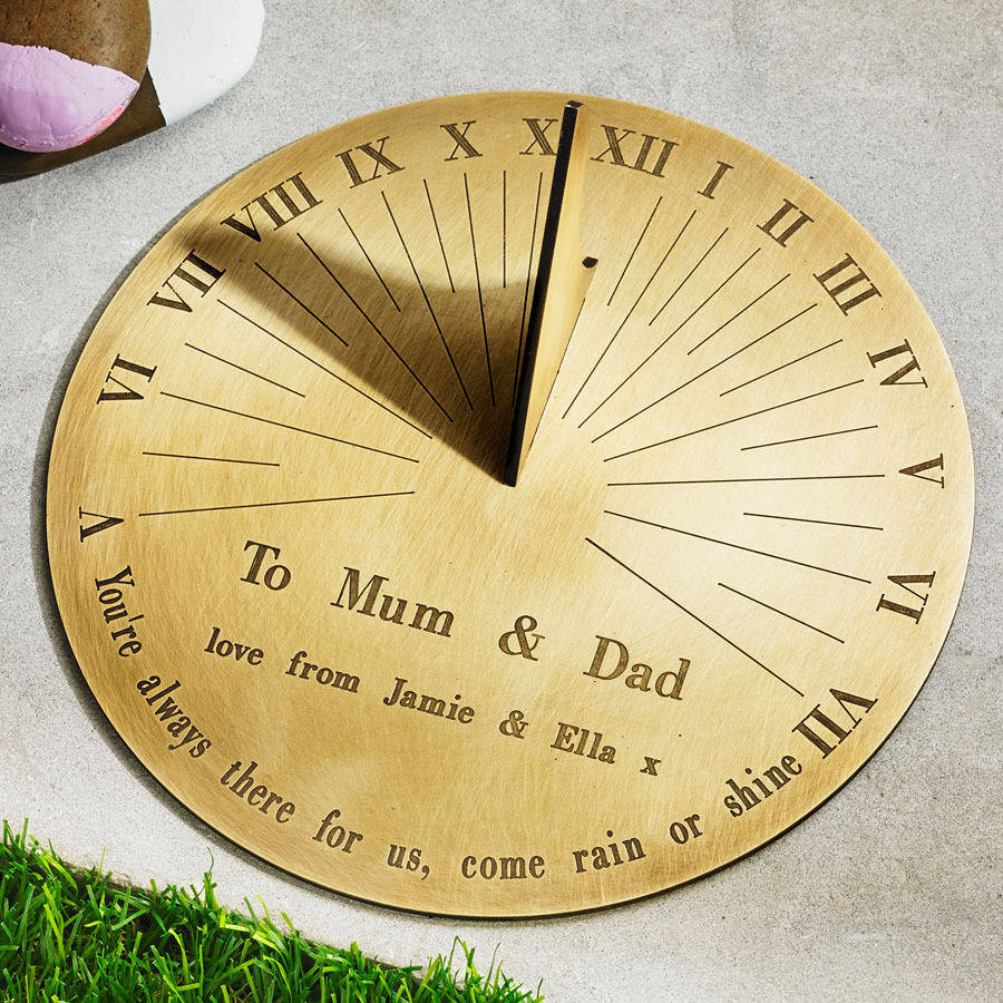 personalised copernicus brass sundial by border sundials ...