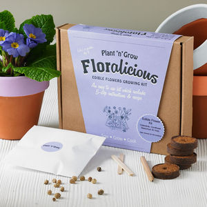 Floralicious Gourmet Edible Flower Growing Kit - gifts under £25 for her
