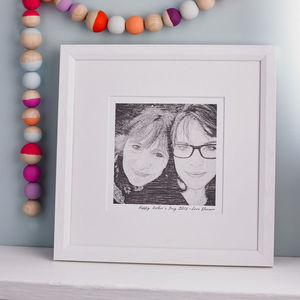 Bespoke Family Portrait Print - new baby keepsakes