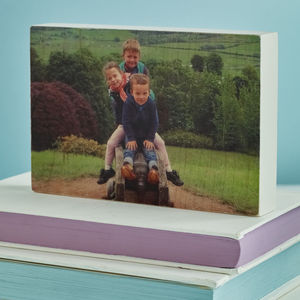 Photograph Wooden Block - gifts for mothers