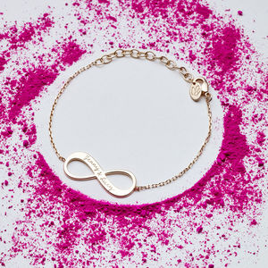 Personalised Infinity Chain Bracelet - gifts for mothers