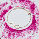 Personalised Infinity Chain Bracelet