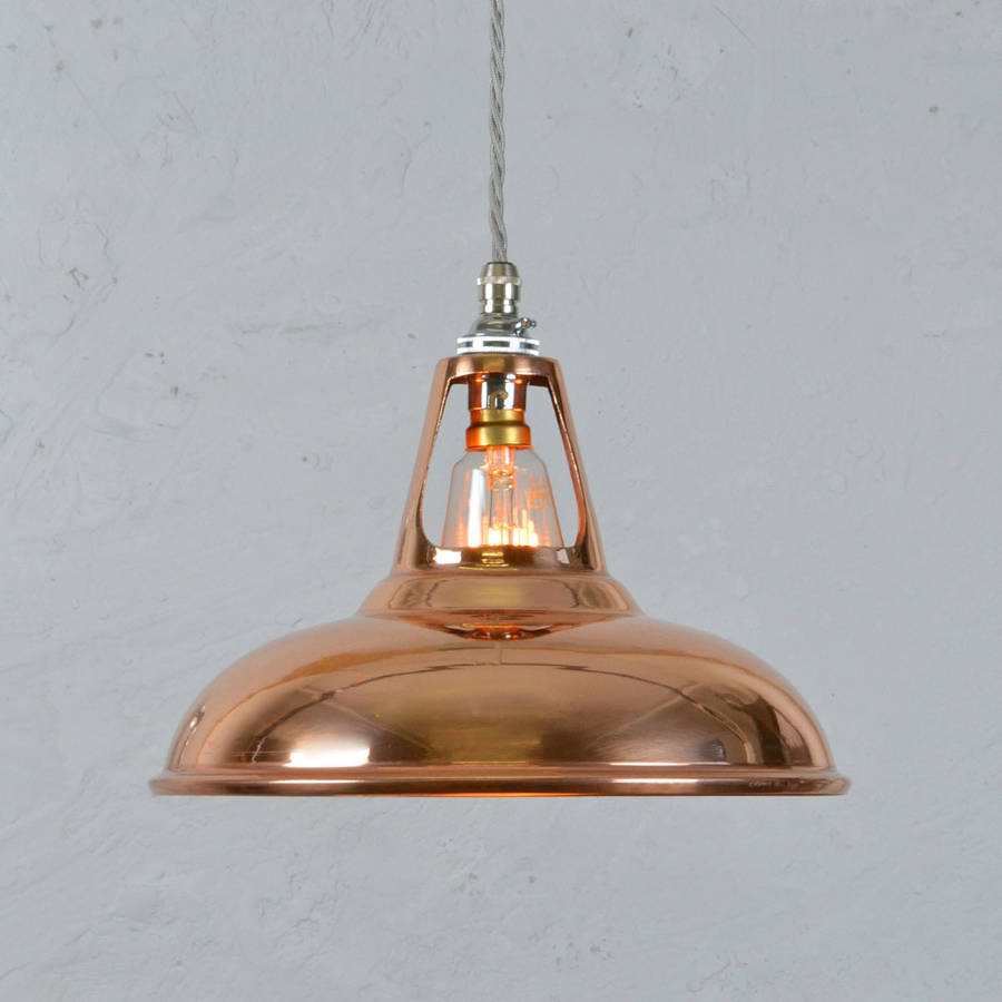 Copper industrial pendant lamp by artifact lighting for Industrial bulb pendant