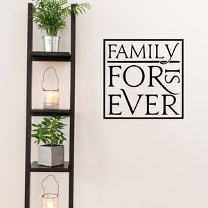 Family Is Forever Quote Wall Sticker