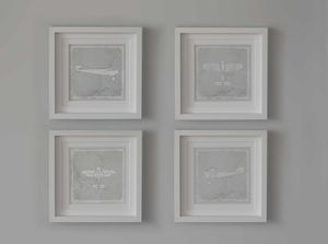 Set Of Four Vintage Plane Prints