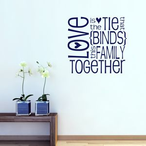 Love And Family Quote Wall Sticker - office & study