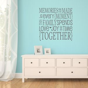 Family Memories Quote Wall Sticker