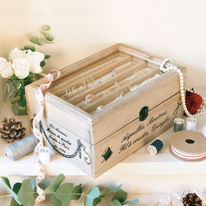 Vintage Craft Storage Box Gift With Free Engraving - sewing boxes