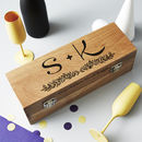 Personalised Initials Oak Bottle Box
