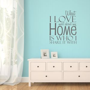 Love My Home Quote Wall Sticker