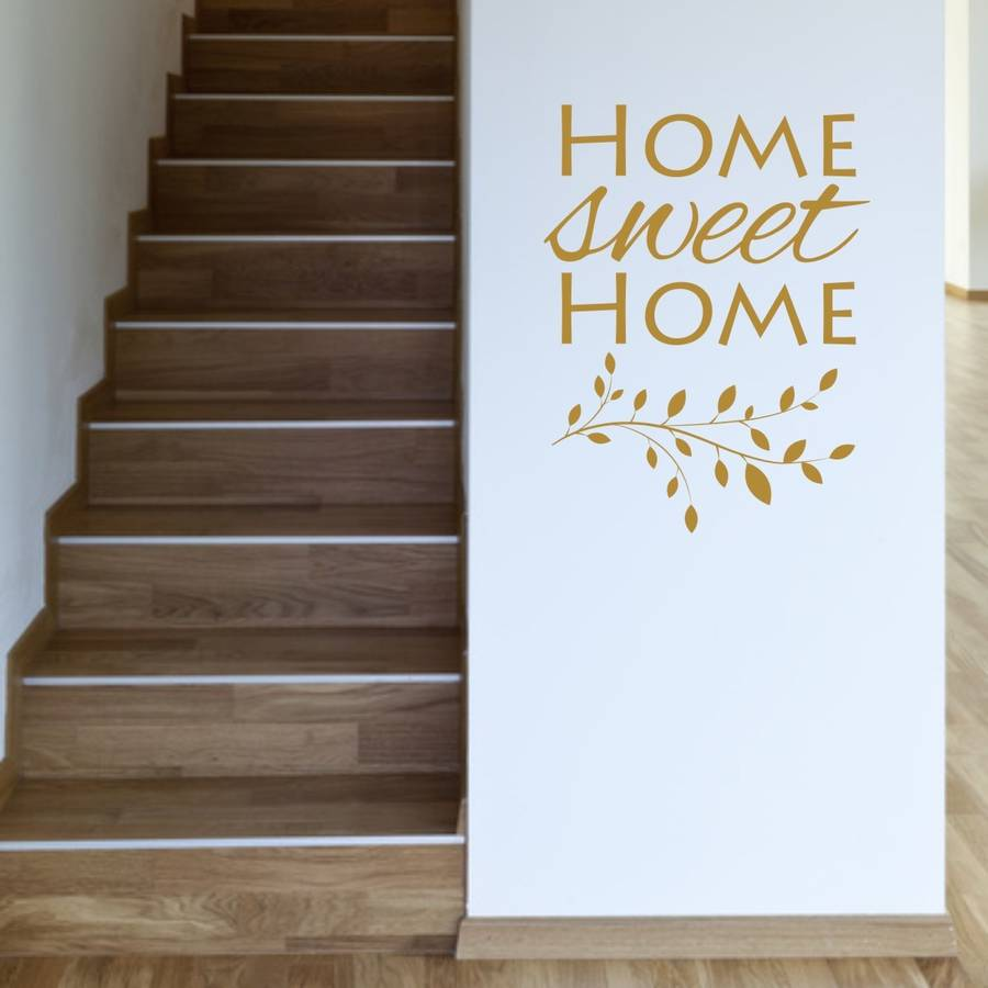 Home sweet home wall stickers home design for Home sweet home designs