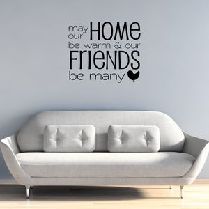 Friends Be Many Quote Wall Sticker - decorative accessories