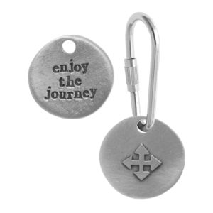 'Enjoy The Journey' Compass Keyring - women's accessories