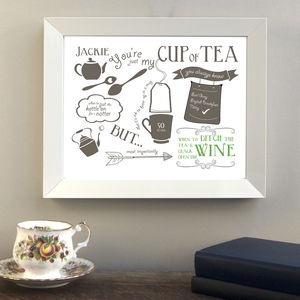 'Just My Cup Of Tea' Friendship Print - gifts for her