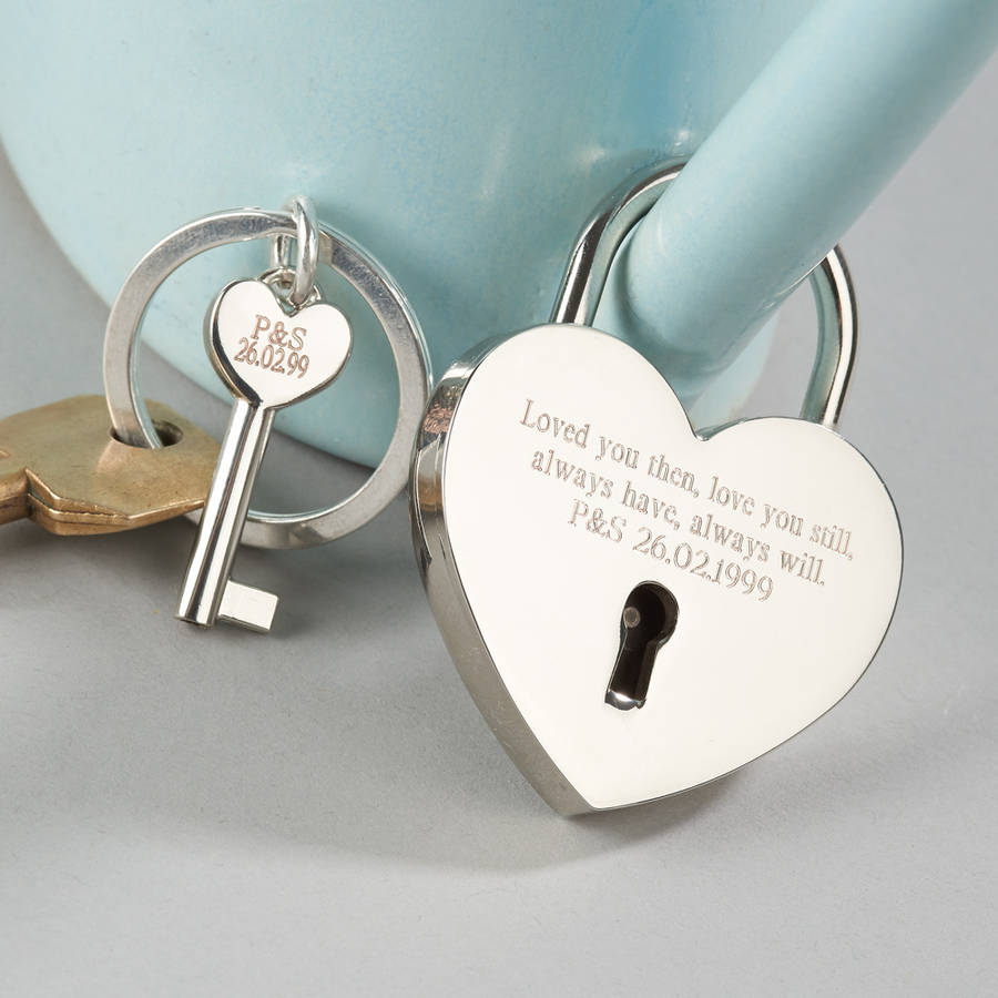 Love Lock And Keyring By Suzy Q Designs