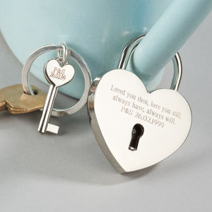 Love Lock And Keyring - gifts for her